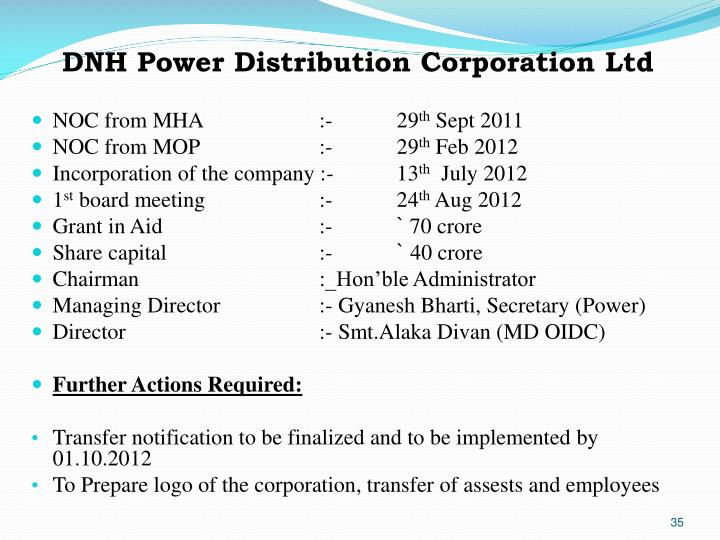 DNH Power Distribution Corporation Ltd