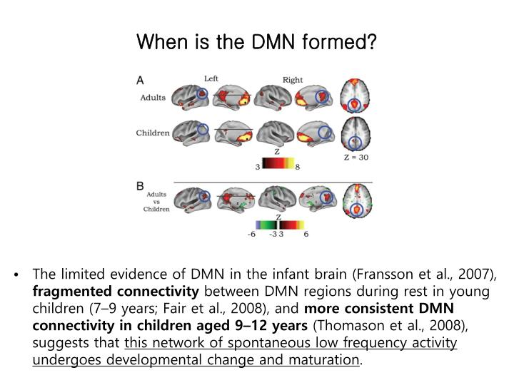 When is the DMN formed?