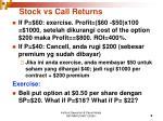 stock vs call returns1