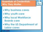 essentials of credentials why they matter