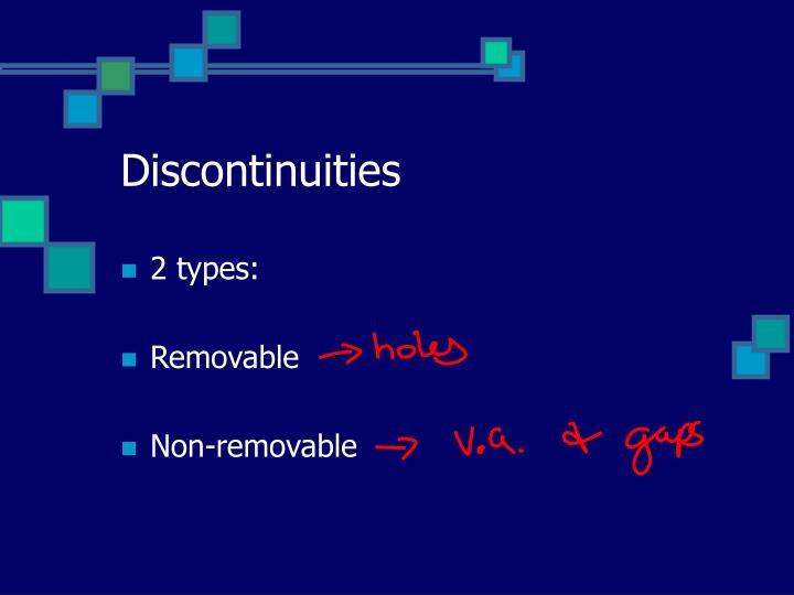 Discontinuities