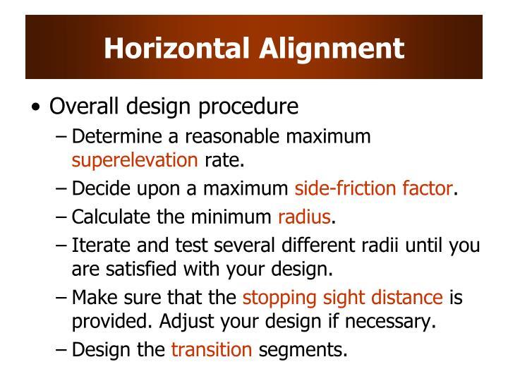 Horizontal Alignment