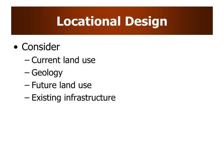 Locational design