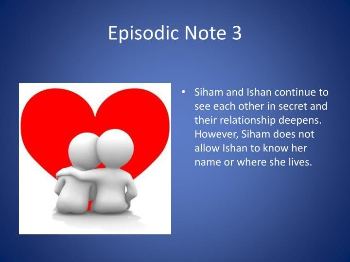 Episodic Note 3