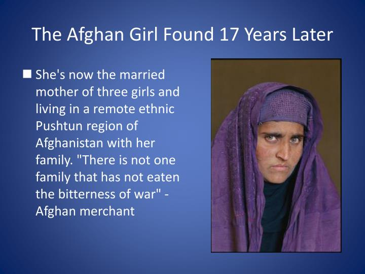 The Afghan Girl Found 17 Years Later