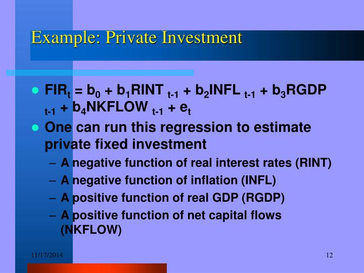Example: Private Investment