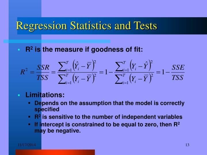 Regression Statistics and Tests