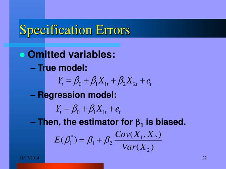 Specification Errors