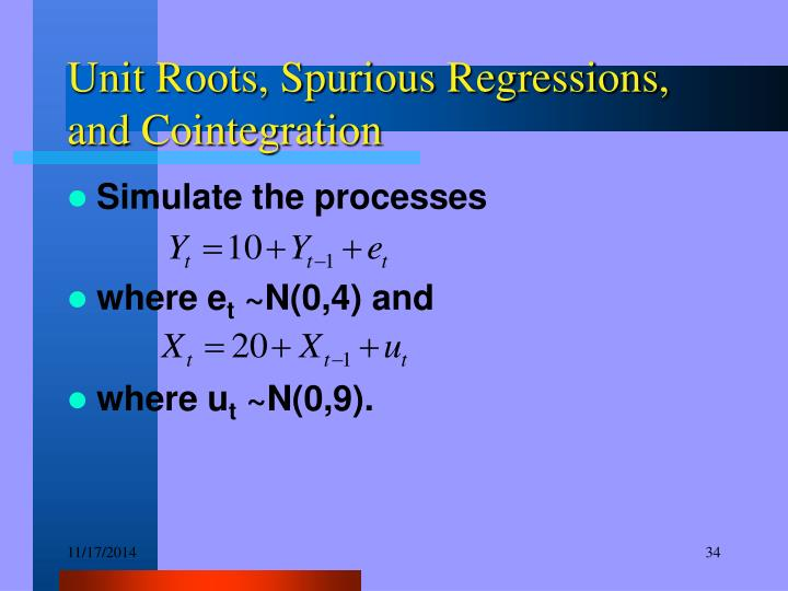 Unit Roots, Spurious Regressions, and Cointegration