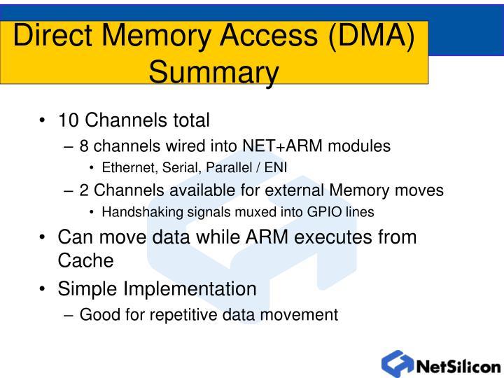 Direct Memory Access (DMA) Summary