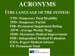 acronyms the language of the system