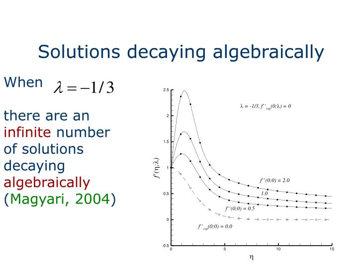 Solutions decaying algebraically