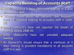 capacity building of accounts staff