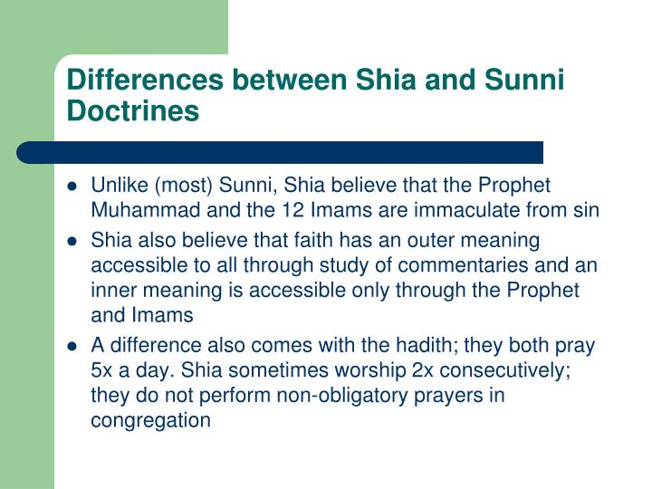 difference between shia n sunni