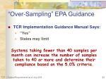 over sampling epa guidance1