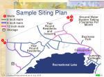 sample siting plan