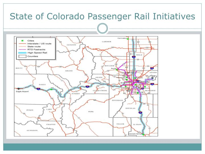 State of colorado passenger rail initiatives