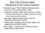 new view of externalities reciprocity the coase theorem