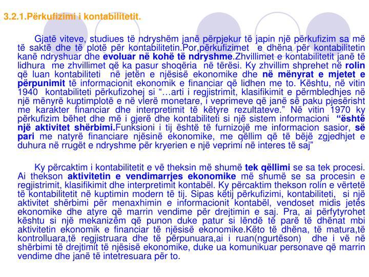 3.2.1.Përkufizimi i kontabilitetit.