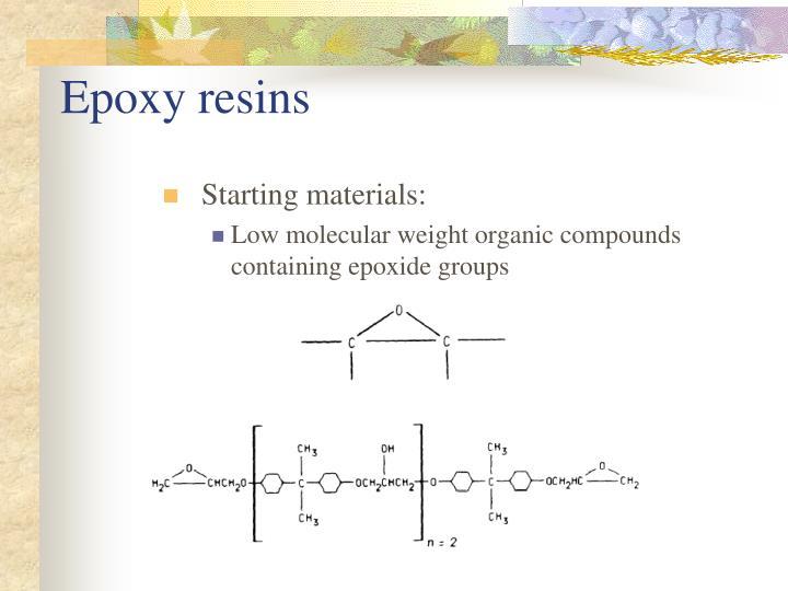 Epoxy resins