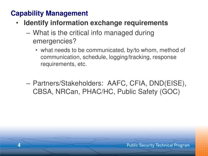 Capability Management