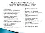 moses res rea goals career action plan cap