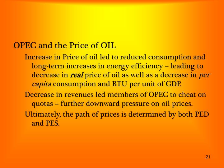OPEC and the Price of OIL