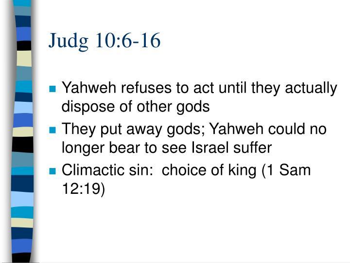 Judg 10:6-16