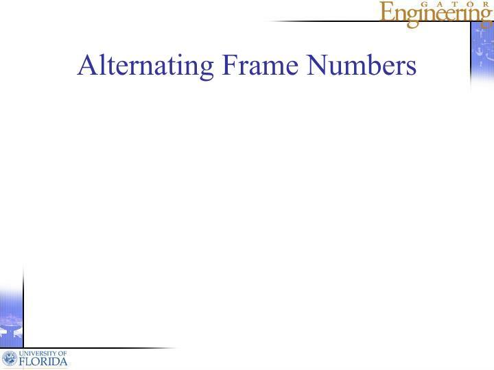 Alternating Frame Numbers