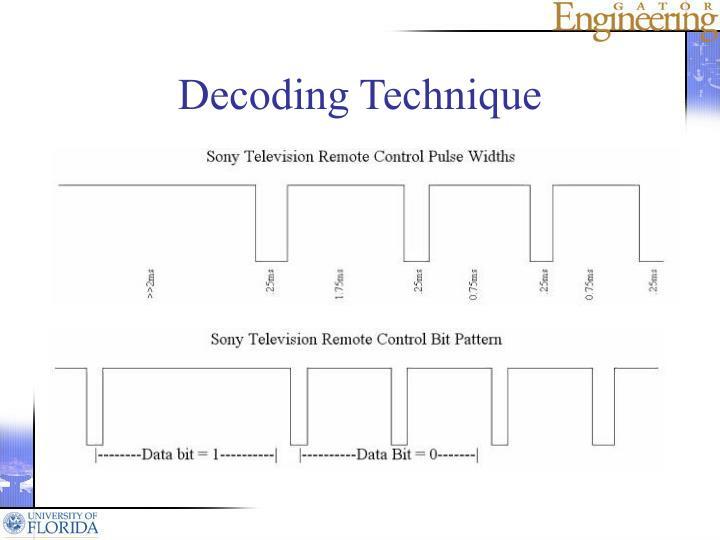 Decoding Technique