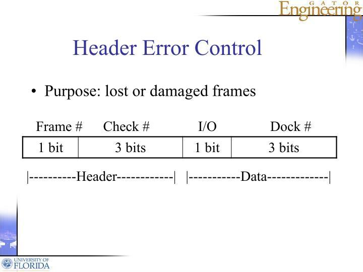 Header Error Control