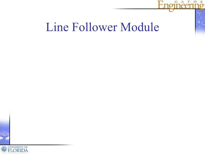 Line Follower Module