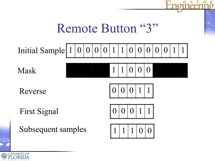 """Remote Button """"3"""""""