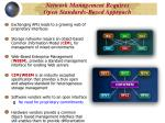 network management requires open standards based approach