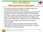 u s and metric measurement systems
