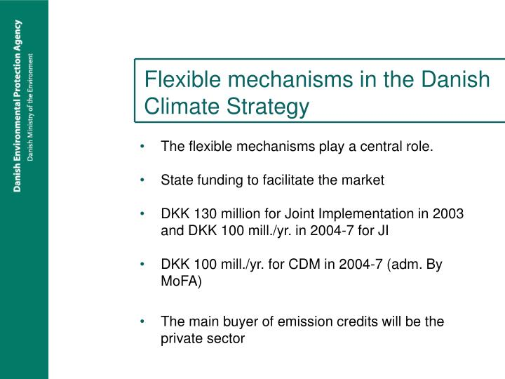 Flexible mechanisms in the Danish Climate Strategy