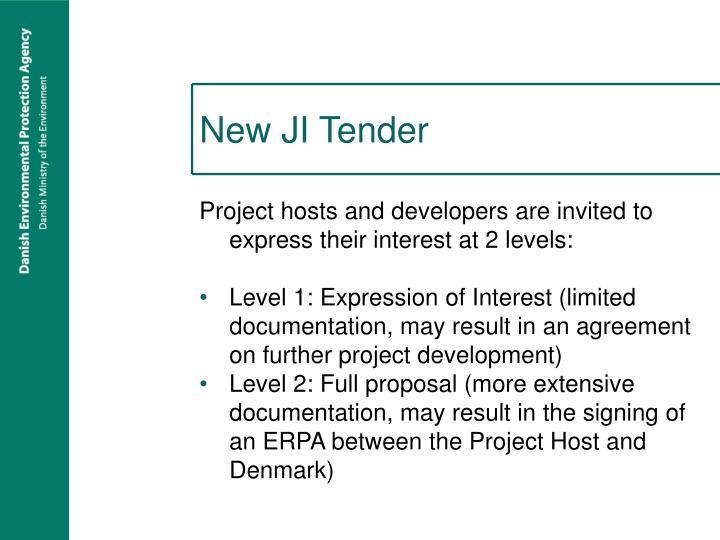 New JI Tender