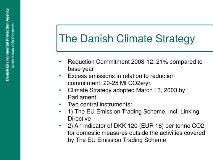 The danish climate strategy