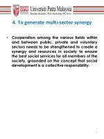 4 to generate multi sector synergy