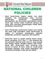 national children policies