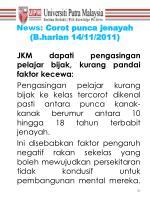 news corot punca jenayah b harian 14 11 2011