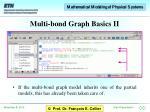 multi bond graph basics ii