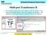 multi port transformers ii