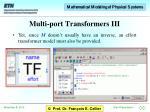 multi port transformers iii