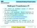 multi port transformers iv