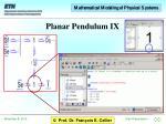 planar pendulum ix