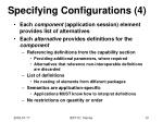 specifying configurations 4