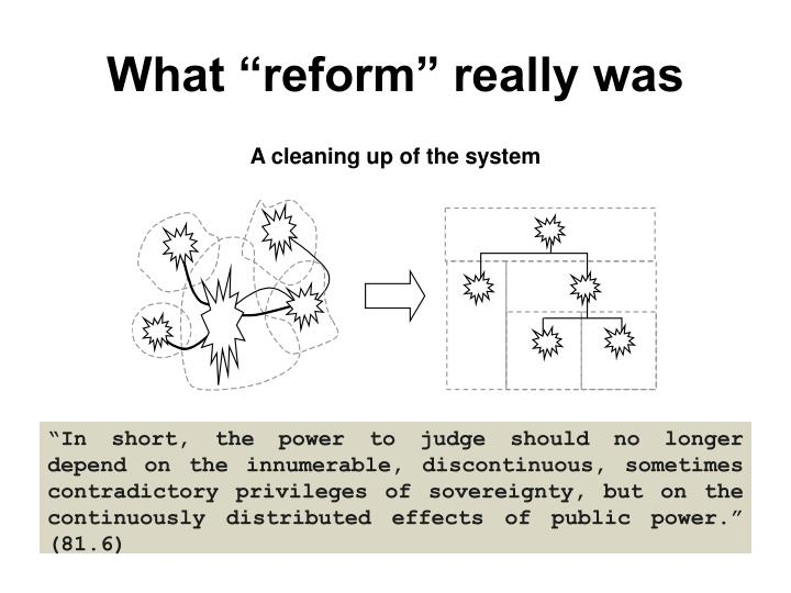 "What ""reform"" really was"