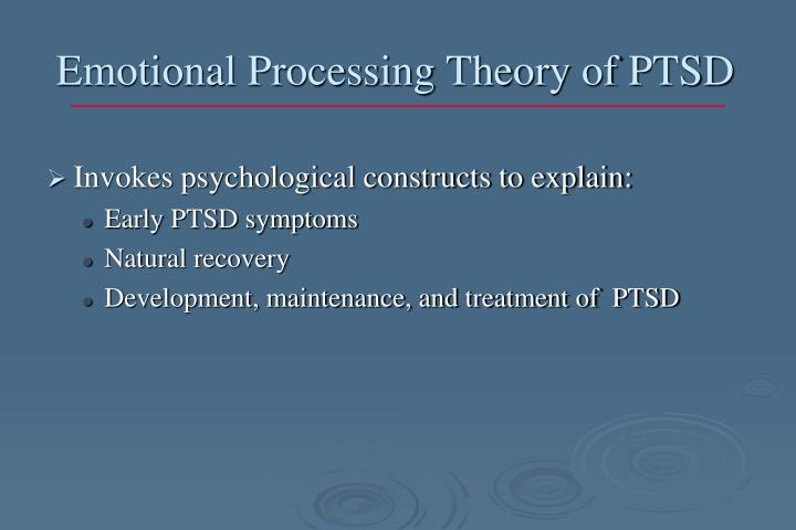 Emotional Processing Theory of PTSD
