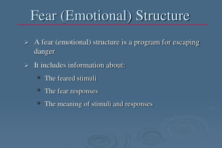 Fear (Emotional) Structure
